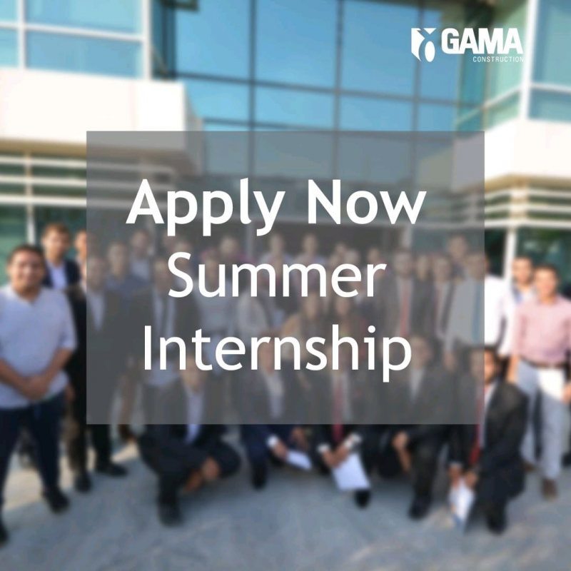التدريب الصيفي في Gama Construction لسنة 2021 - STJEGYPT