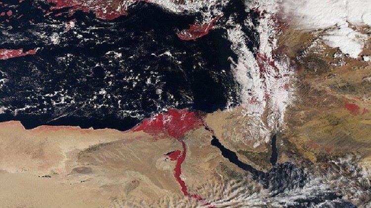 ما السر وراء ظهور نهر النيل باللون الأحمر؟ - STJEGYPT