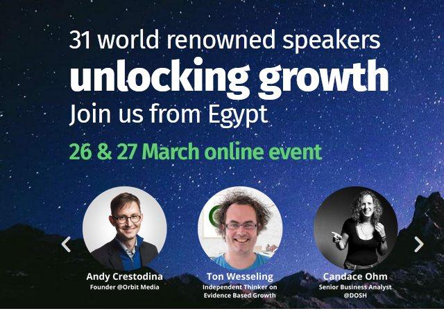 مجانا تماما حضور e-commerce growth Summit بدون أي تكلفة - STJEGYPT