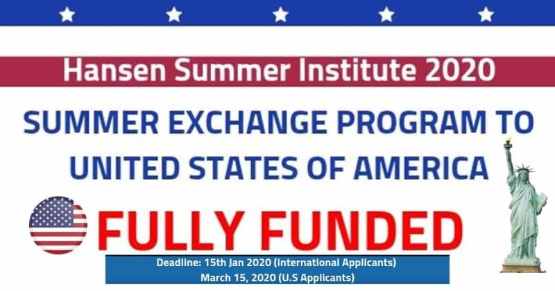 Hansen Summer Institute 2020 (Fully Funded) Summer Exchange Program - STJEGYPT