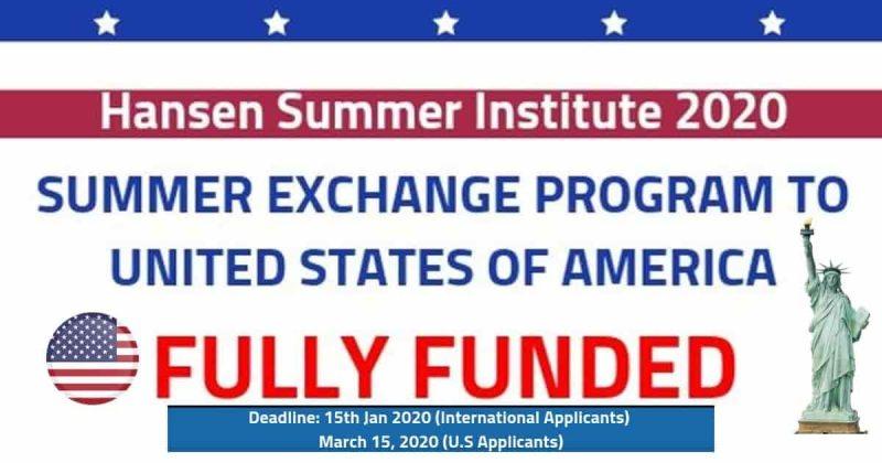 Hansen Summer Institute 2020 (Fully Funded) Summer Exchange Program - STJEGYPT