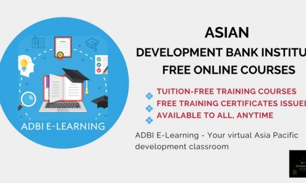 معهد بنك التنمية الاسيوي دورات مجانية عبر الانترنت مع شهادات مجانية 2020 - STJEGYPT