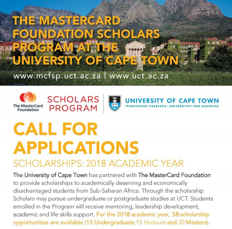 The Mastercard scholarship Foundation to students from Africa - STJEGYPT