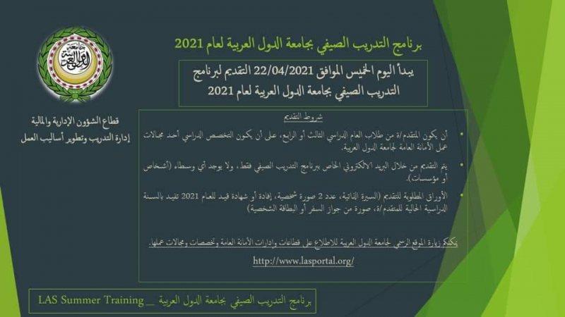تدريب الصيفي لجامعة الدول العربية - STJEGYPT