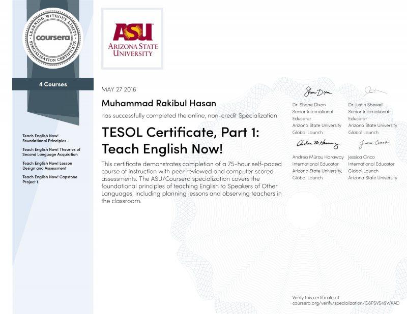 كورس Teach English Now , TESOL | مجانا الآن من كورسيرا - STJEGYPT