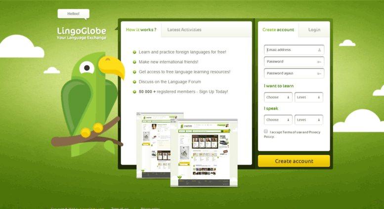 موقع لتبادل و تعلم الغات lingo globe - STJEGYPT