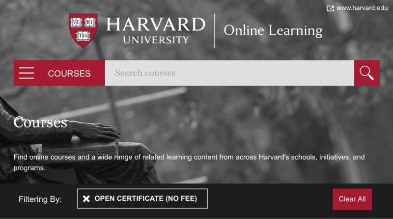 كورسات مجانية من جامعة هارفارد   Harvard - STJEGYPT