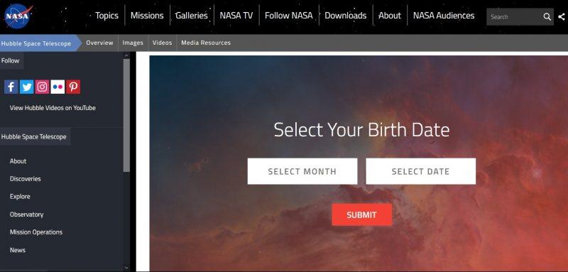 من ناسا | كيف كان الفضاء يوم عيد ميلادك - STJEGYPT