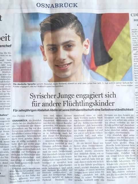 الطفل السوري الذي تصدر عناوين الصحف الالمانية - STJEGYPT